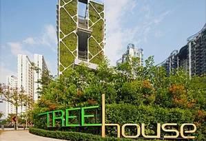 Com mais de 2 mil metros quadrados de área verde, jardim tem tem função estética e ambiental Foto: Divulgação / City Developments Limited