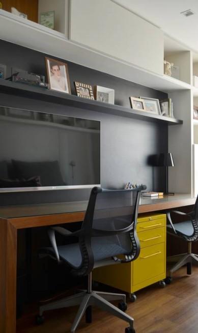 RG - Exclusiva. Décor. Projetos residenciais com paredes pretas. Apartamento assinado por Eliane Fiuza. Divulgação / Divulgação