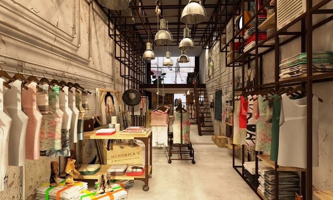 Lojistas descobriram o potencial dos mezaninos e transformaram esses locais em ambientes cheios de possibilidades. Na Eva, em Ipanema, espaço fica ao fundo da loja Divulgação