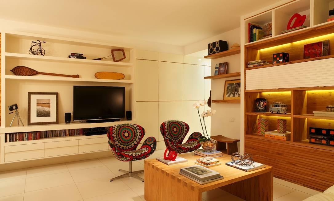 outro lado da sala de estar Foto: Divulgação