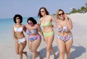 Uma grife de moda praia lançou um catálogo dedicado a mulheres plus size para provar que