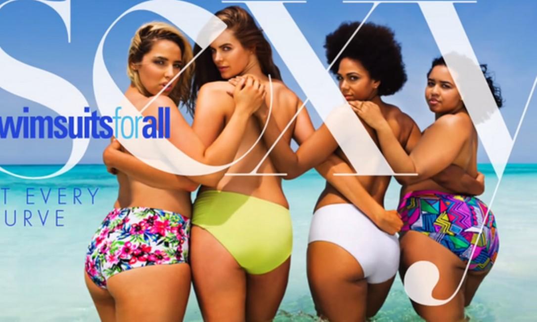 """Segundo a marca Swimsuits For All a proposta foi capturar """"mulheres confiantes e sensuais, com diferentes tipos de corpo para realçar a beleza em todas as mulheres"""" Foto: Divulgação"""