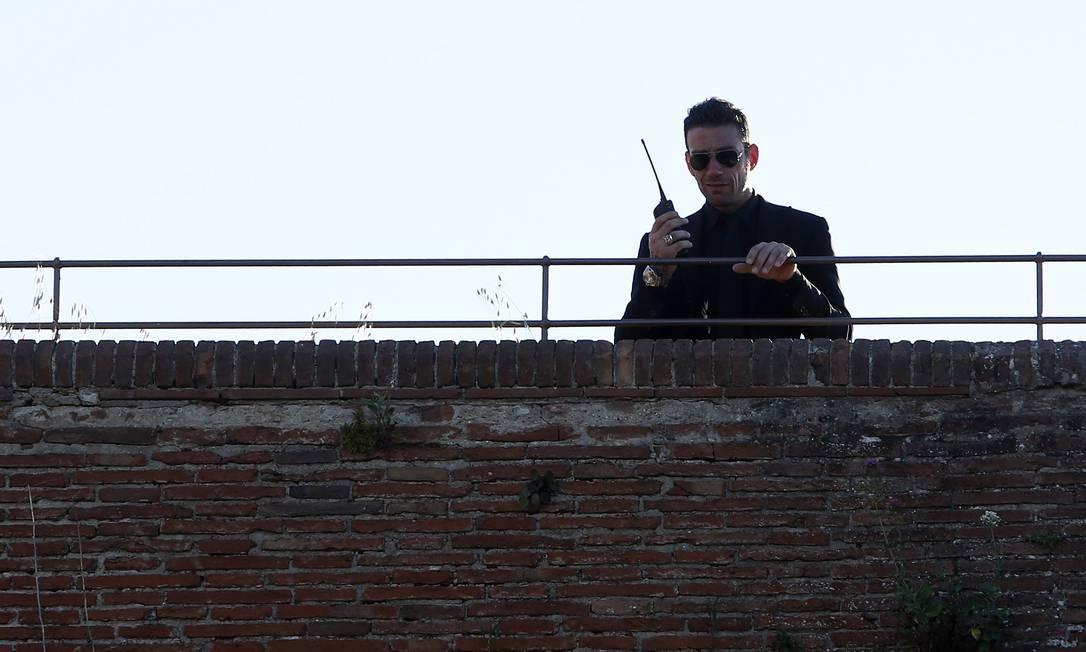 Cerimônia contou com um forte aparato de segurança ALESSANDRO GAROFALO / REUTERS
