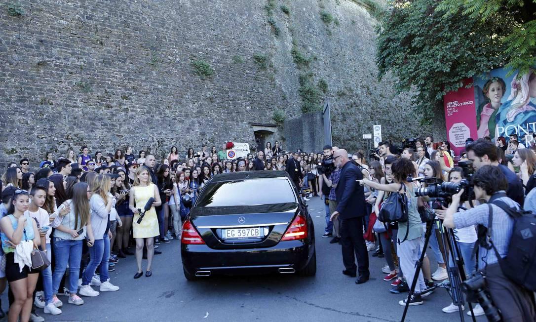 A segurança teve trabalho para conter os adolescentes ALESSANDRO GAROFALO / REUTERS