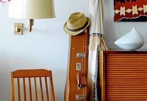Detalhe de apartamento no Arpoador, no Rio Foto: Divulgação / Reprodução