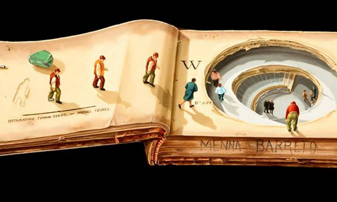 Os quadros são feitos usando a técnica flamenga, em que ela cria os próprios tons de tinta e passa camadas de gesso no linho Reprodução