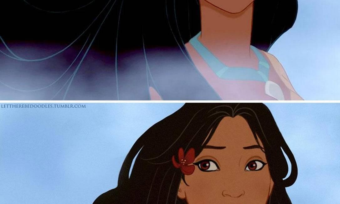 Pocahontas, do filme homônimo, possuia toda a beleza dos índios americanos Reprodução