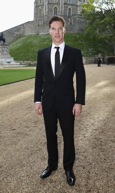 "O ator Benedict Cumberbatch, de ""Sherlock"", foi outra presença ilustre da noite POOL / REUTERS"