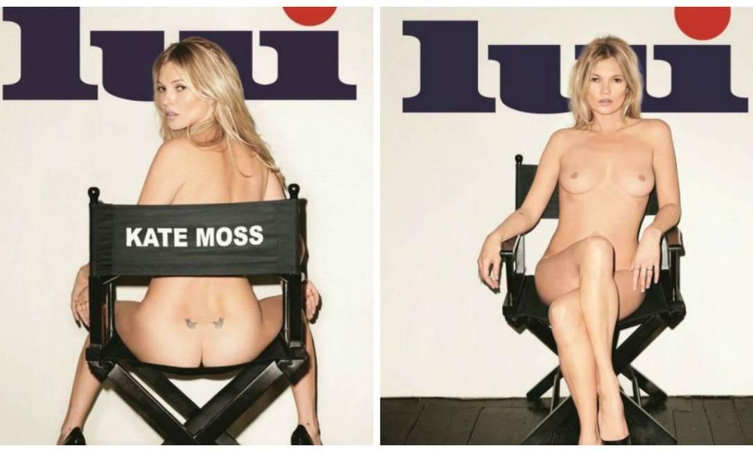 Kate Moss nua na capa da revista francesa 'Lui': aos 40 anos, ela diz que não sabe por que ainda vende revista... Foto: Divulgação