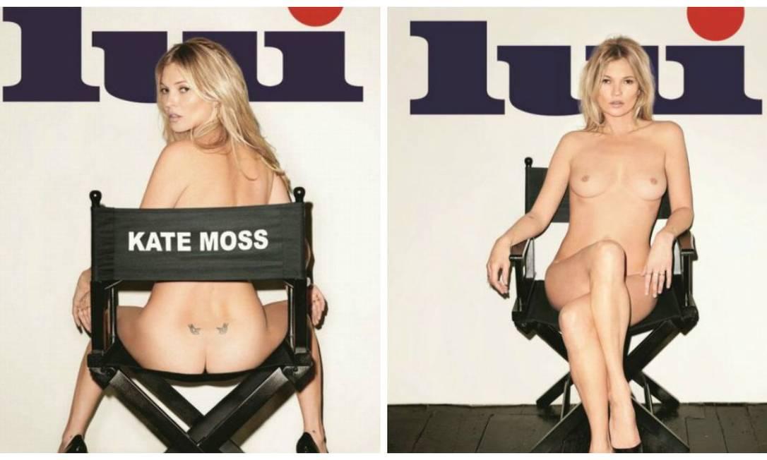 Kate Moss nua na capa da revista francesa 'Lui': aos 40 anos, ela diz que não sabe por que ainda vende revista... Divulgação