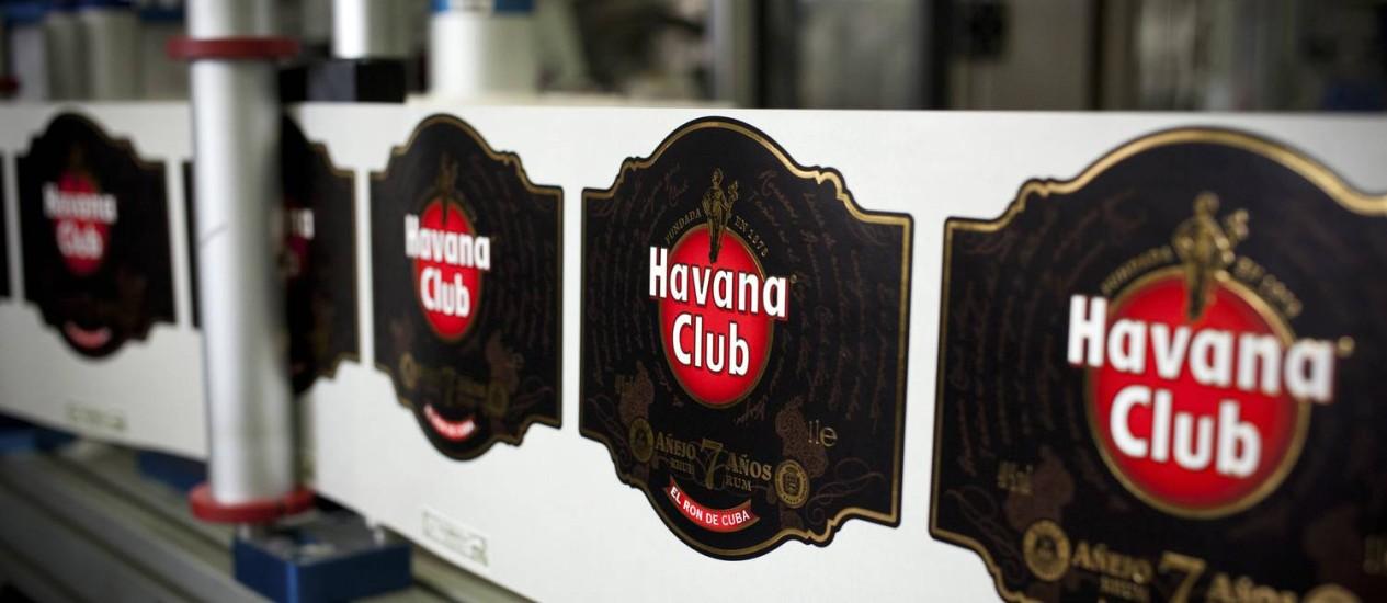 Rótulos de Havana Club na destilaria da marca localizada na capital cubana Foto: Lisette Poole / Bloomberg/26-1-2015