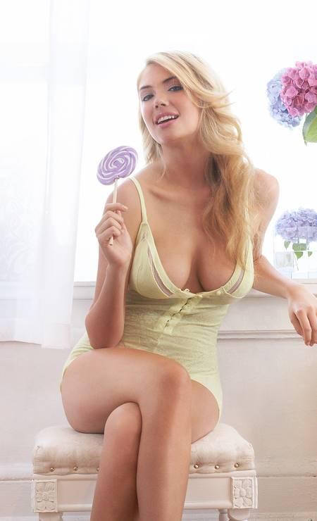 61b4d5dca Se a Victoria´s Secret não quer... Kate Upton posa sexy para marca ...