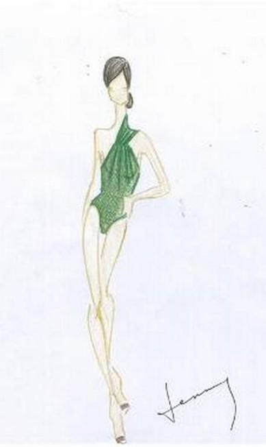 Lenny Niemeyer foi buscar sua inspiração na botânica e suas texturas. As modelagens geométricas aparecem sob tons de crus, caquis, tons terrosos e vibrantes Divulgação
