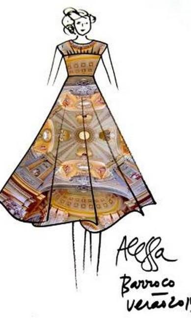 A Alessa criou peças inspiradas no Barroco. A modelagem vai da alfaiataria de neoprene em macacões a vestidos amplos com saias godês soleil Divulgação