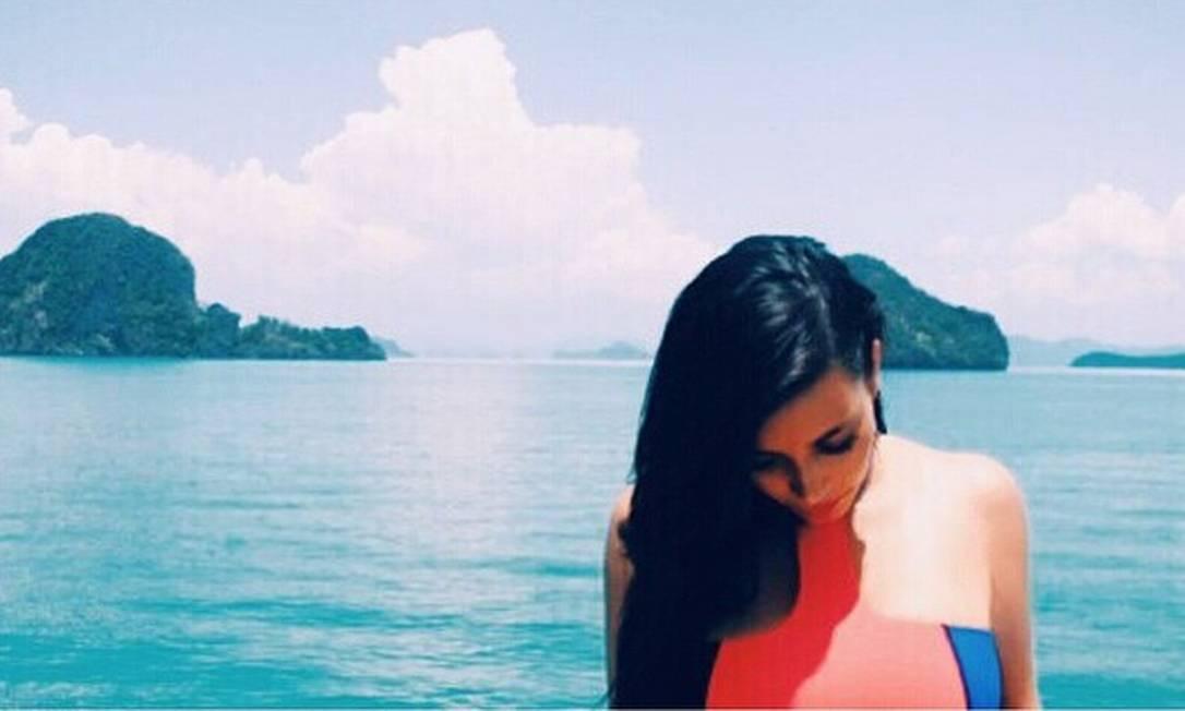 Kim embarcou ao lado da família para a Tailândia na última semana. Além de conhecerem o país, elas aproveitaram para gravar cenas do reality 'Keeping Up with the Kardashians' Reprodução Instagram