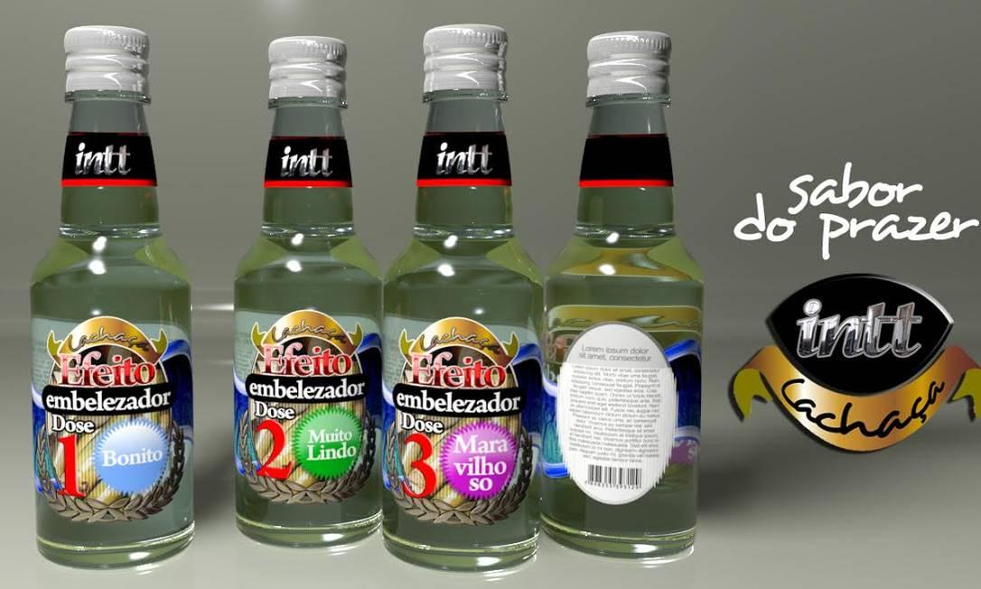 INTT Cachaça Efeito Embelezador: As mini-garrafas são doses de 30 ml cada, sabor canela. A proposta da marca é trazer um produto bem humorado para o consumidor. O Efeito Embelezador tem três doses e a cada uma delas o nível de beleza só aumenta! 39,00 kit com 3 Divulgação