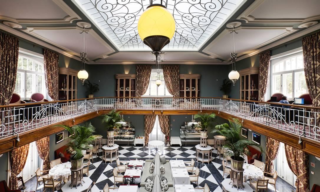 O salão onde é servido o café da manhã e se pode almoçar ou jantar os pratos do chef Rui Paula Bruno Barbosa / Divulgação
