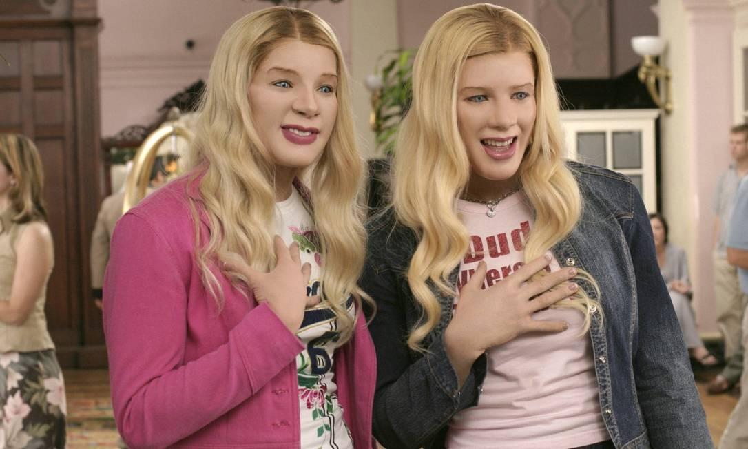"""Há quem diga que as moças parecem com as personagens do filme americano """"As Branquelas"""" Divulgação"""