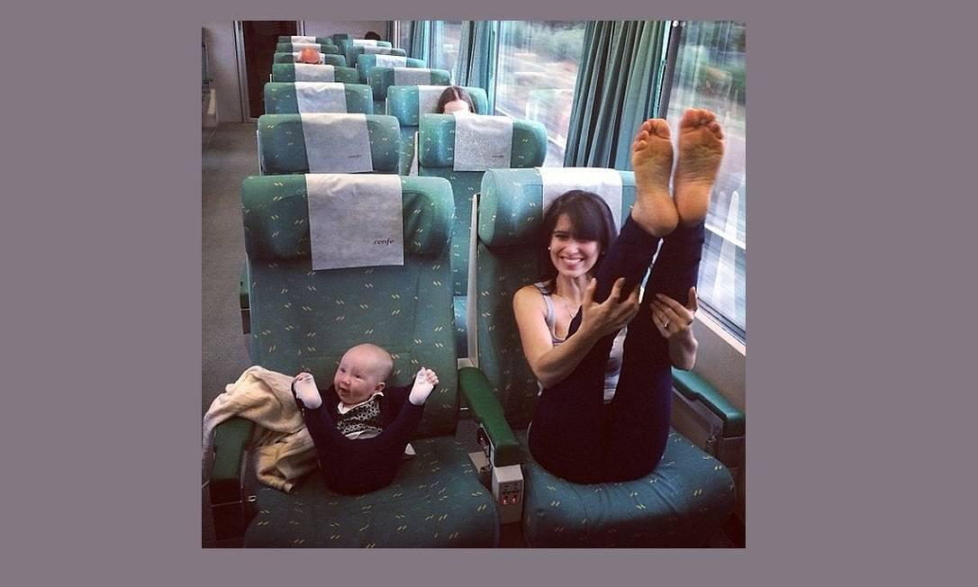 Até a filha do casal já está seguindo os passos da mãe... Reprodução Instagram