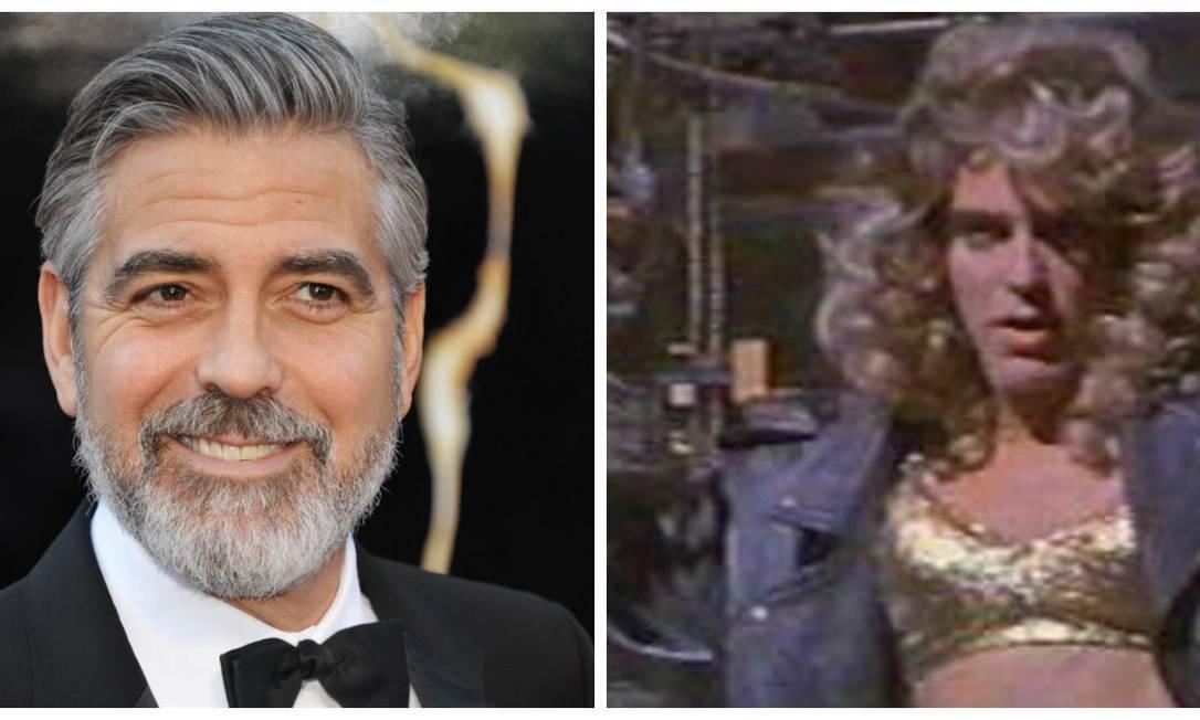"""George Clooney brilhou literalmente com top de lantejoulas douradas em """"The Harvest"""" Montagem sobre fotos de Reuters e divulgação"""
