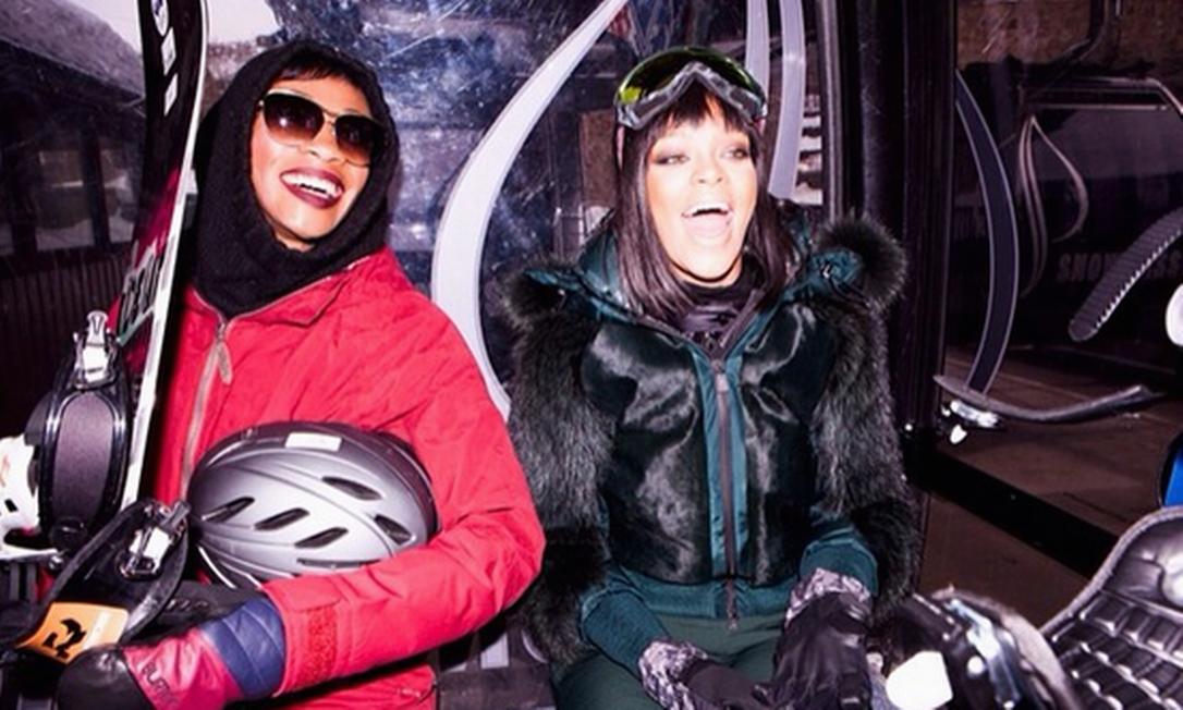 Rihanna está em Aspen, onde comemorou seu aniversário de 26 anos no dia 20 de fevereiro Instagram