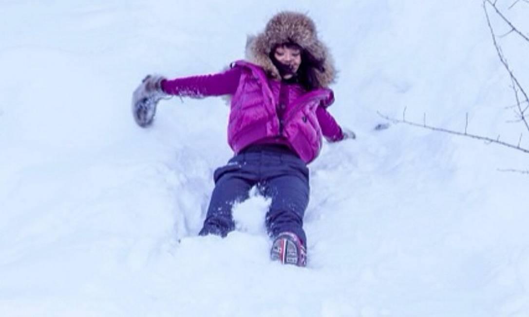 A cantora já havia postado fotos se divertindo em Aspen... Reprodução Instagram