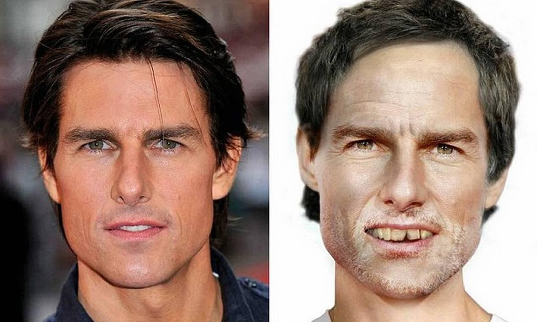 Tom Cruise sem seu clareamento dentário Reprodução Vouchercodespro