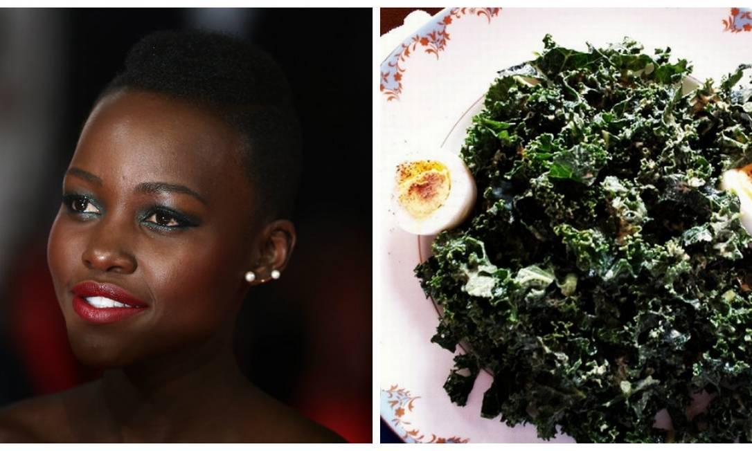 Só pelo Instagram de Lupita Nyong'o é possível perceber que o fraco da atriz é mesmo doce. Volta e meia, ela publica imagens devorando uma barra de chocolate ou de uma mesa repleta de sobremesas. Mas Lupita também tem seus momentos naturebas, como o prato de Sukuma Wiki, como é chamada a couve no Quênia, onde nasceu Reprodução