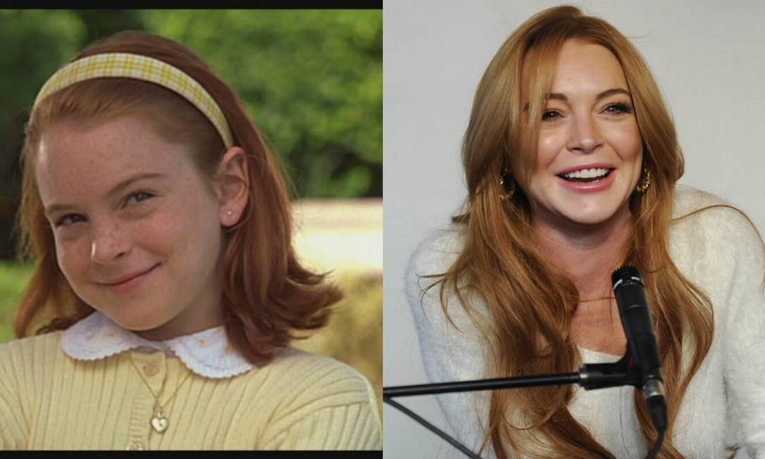 Quando criança, Lindsay Lohan era tão angelical Foto: Divulgação e Chris Pizzello /Invision/AP