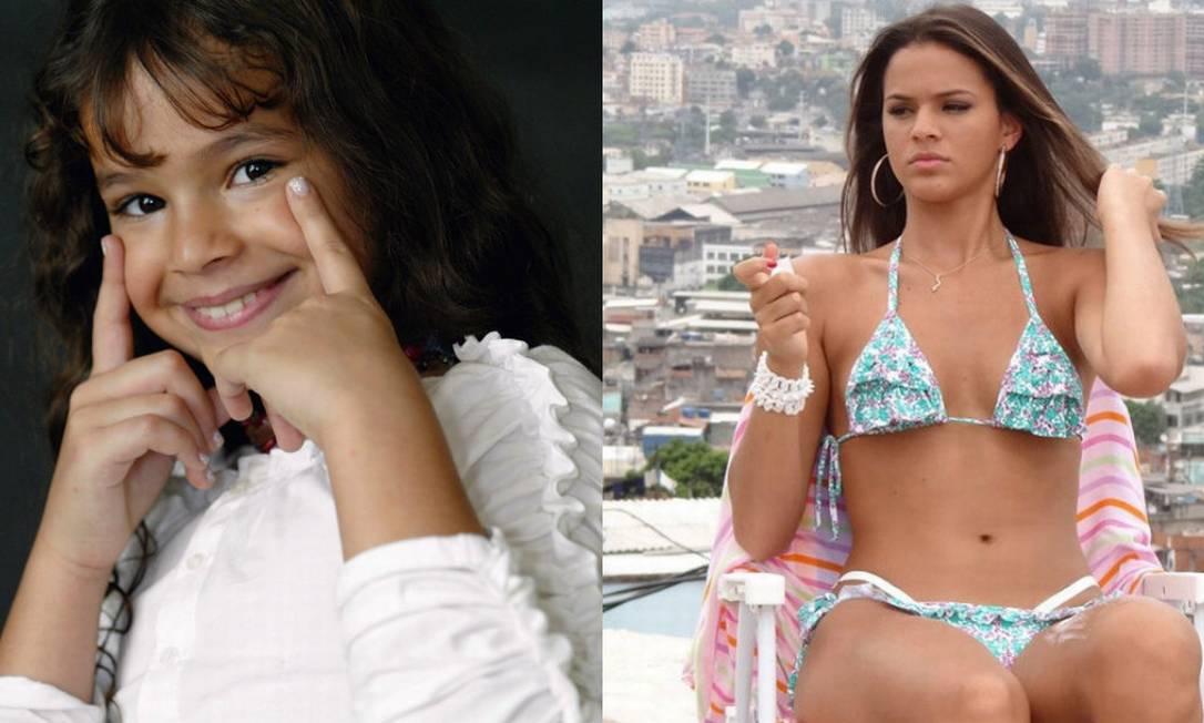 Bruna Marquezine foi uma das maiores transformações já vista entre os famosos. Mas não está sozinha... Fábio Guimarães/ Agência O Globo e Reprodução Salve Jorge