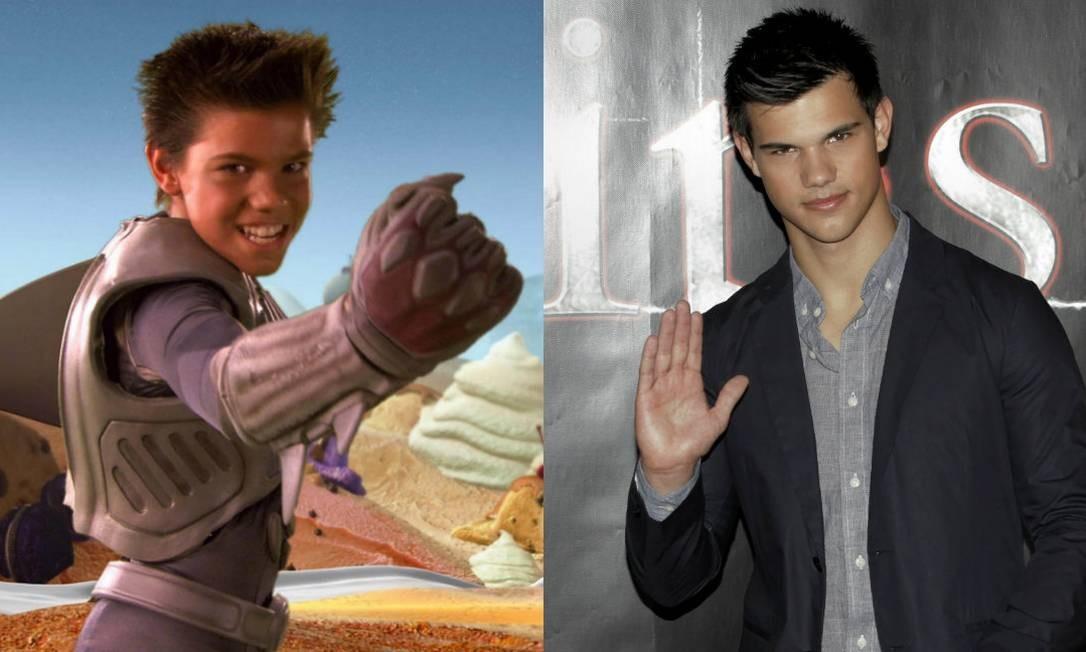 Taylor Lautner: a mudança foi grande Foto: Divulgação e REUTERS