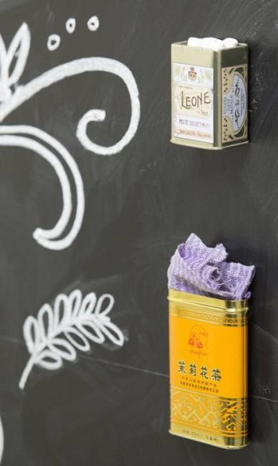 Risca de giz: embalagens de chá, que oferecem variedade de imagens e uso Leo Martins / Agência O Globo