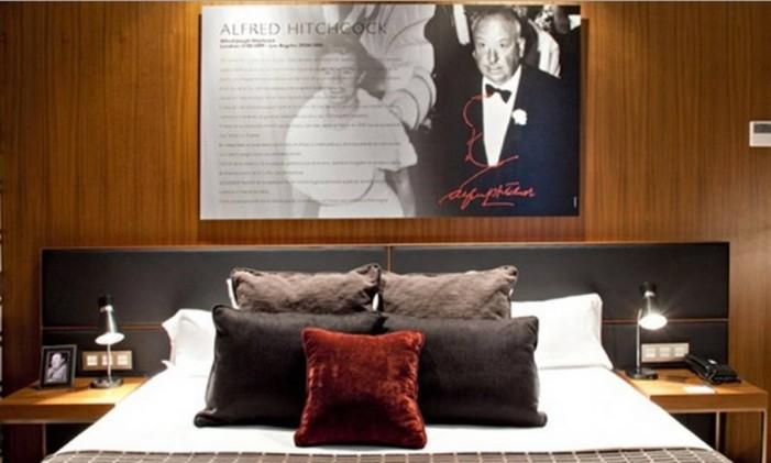 Quartos no Astoria7 são dedicados a estrelas de Hollywood. Foto: Reprodução