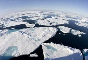 Cobertura de gelo no Ártico Foto: JONATHAN HAYWARD / AP