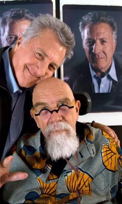 Robert DeNiro posa com Chuck Close Divulgação/Chuck Close/Vanity Fair