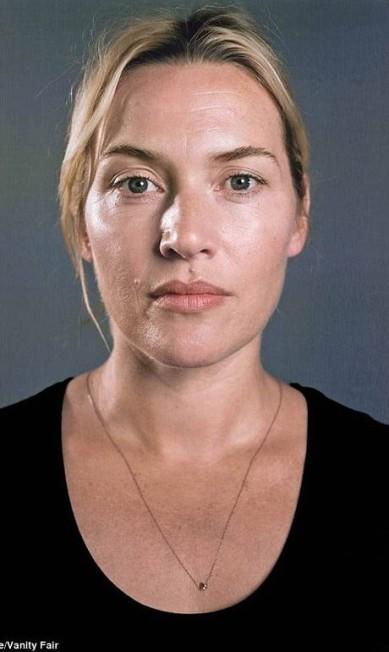 Entre as mulheres, o resultado foi bem mais surpreendente. Acima, a atriz Kate Winslet, de 38 anos Divulgação/Chuck Close/Vanity Fair