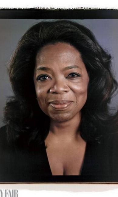 A apresentadora e atriz Oprah Winfrey foi outra que topou o desafio Divulgação/Chuck Close