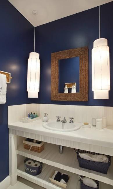 Os banheiros seguem o charme dos demais ambientes da casa Divulgação