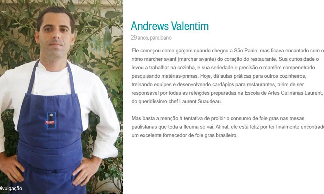 Andrews Valentim Divulgação