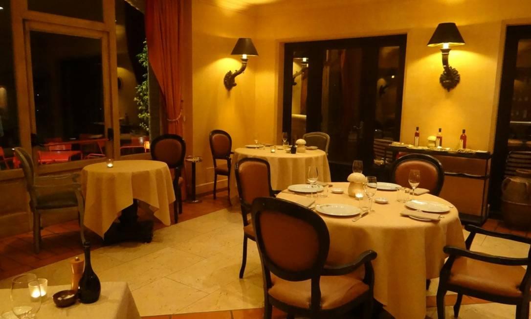 O Trattoria, restaurante do L'Andana, tem um cardápio de culinária francesa com toques da Toscana Renata Araújo