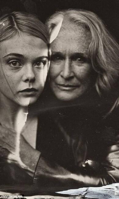 As atrizes Elle Fanning e Glenn Close © VICTORIA WILL/INVISION/AP