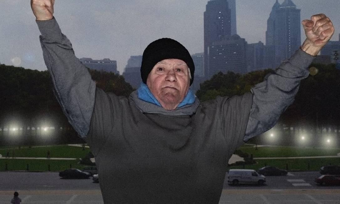 Erwin J. von der Heiden, de 80 anos, é Rocky Balboa, personagem de Sylvester Stallone Divulgação