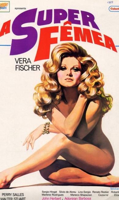 """É dele também o famoso desenho de Vera Fischer no cartaz de """"A Super Fêmea"""" Agência O Globo"""