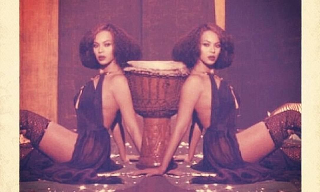 E neste registro, dose dupla de Beyoncé © Beyonce Instagram