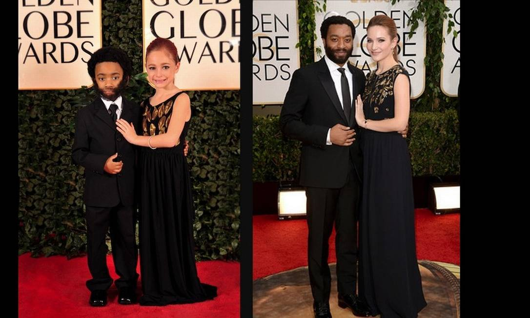 """O britânico Chiwetel Ejiofor, também de """"12 anos de escravidão"""", acompanhado da namorada, Sari Mercer Divulgação"""