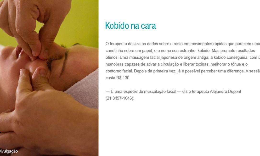 Kobido na cara Foto: Divulgação