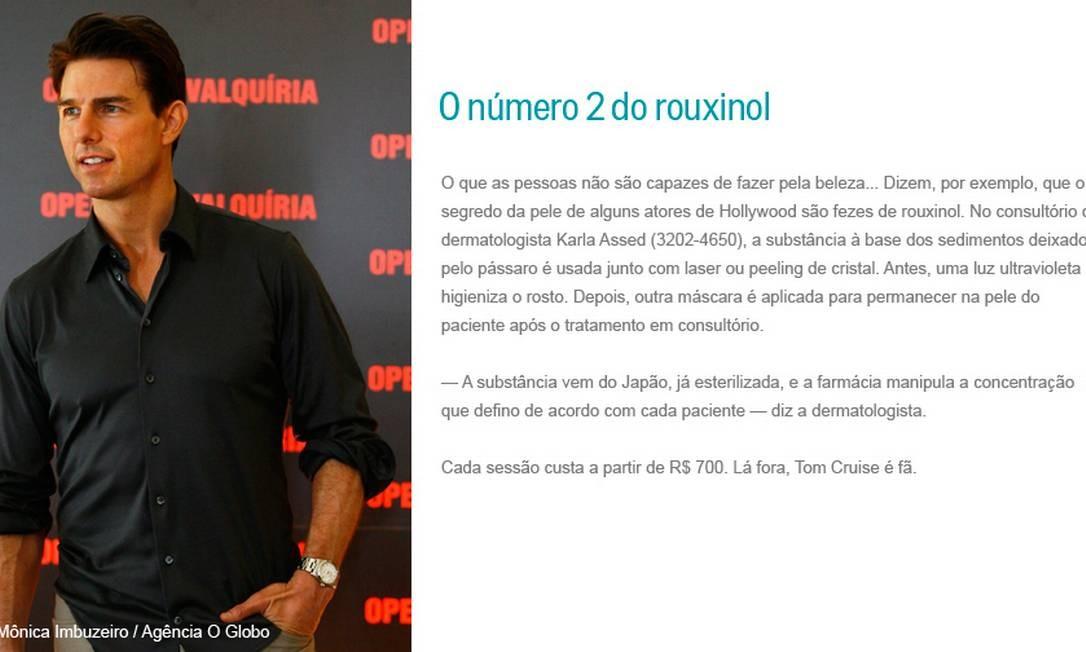 O número 2 do rouxinol Foto: Mônica Imbuzeiro / Agência O Globo