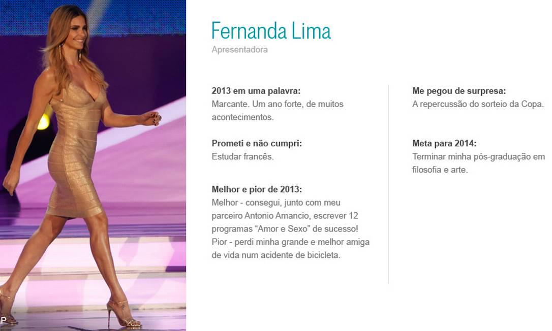 Fernanda Lima AP / Arte O Globo