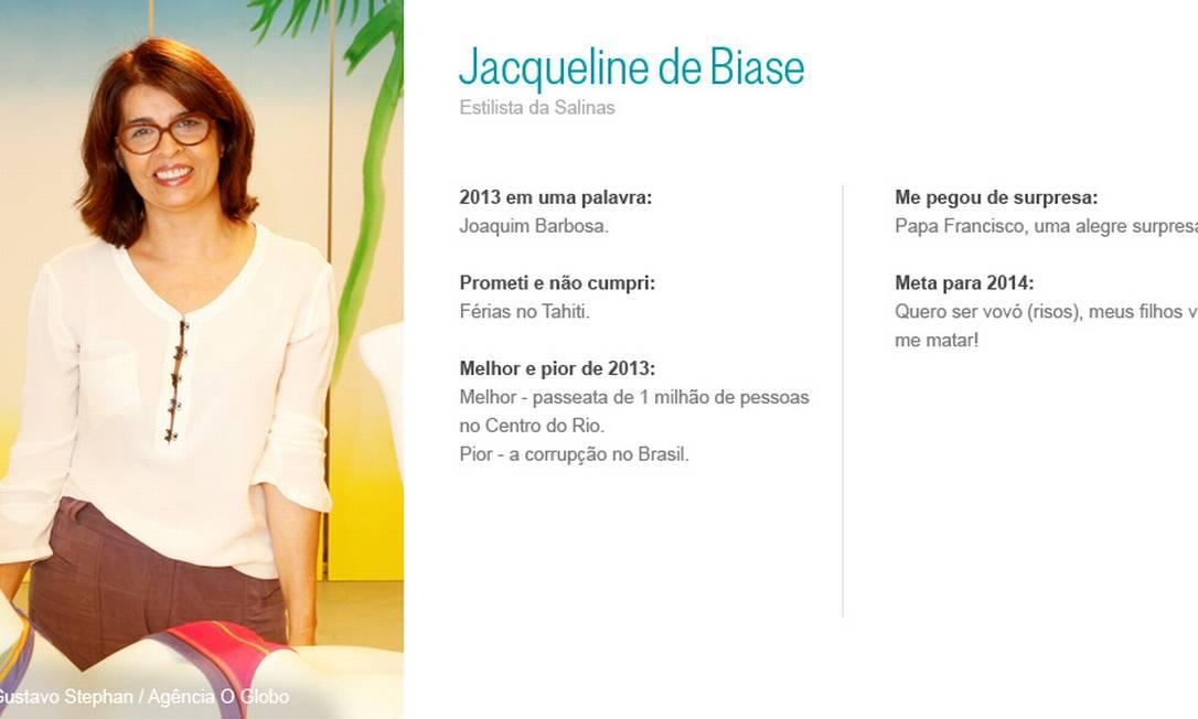 Jacqueline de Biase Gustavo Stephan/ Agência O Globo