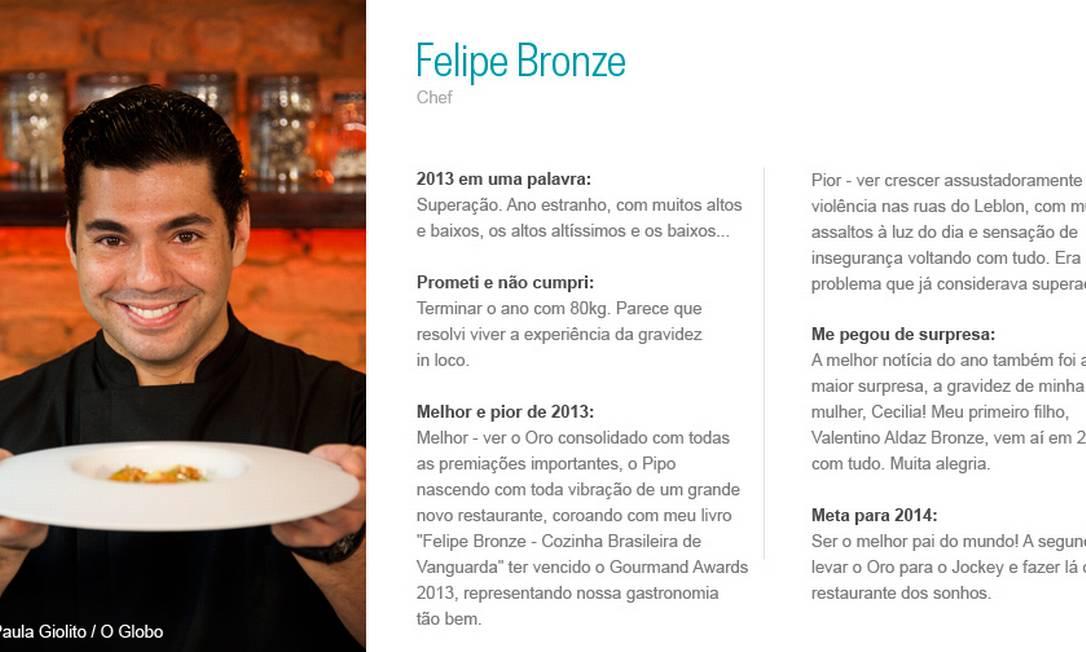 Felipe Bronze Paula Giolito/ Agência O Globo
